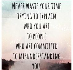 Quote - Never waste your time..