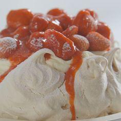 Cs strawberry and vanilla pavlova