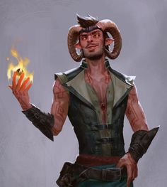 Wild magic? It's just an occupational hazard. Made a new painting of my husband's Tiefling sorcerer. I like the old one, just wanted an updated version to go with the rest I've been doing of the...