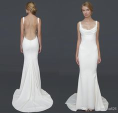 Wholesale Affordable Bridal Gowns - Buy 2014 Hot Recommend Barcelona Gown Gorgeous Cowl Neckline Open Back Sexy Wedding Dresses Affordable Bridal Gowns Under 100, $99.0 | DHgate