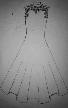 Dress Design Drawing, Dress Drawing, Drawing Clothes, Fashion Illustration Sketches, Fashion Sketches, Greece Art, Pakistani Bridal Makeup, Dress Sketches, Fashion Design Drawings