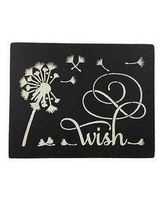 This Black 'Wish' Wall Art is perfect! #zulilyfinds