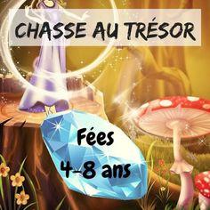 chasse au trésor enfant pour anniversaire fées pour enfants de 4 à 8 ans #fées #chasseautresor