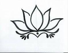 Výsledek obrázku pro flor de lotus desenho