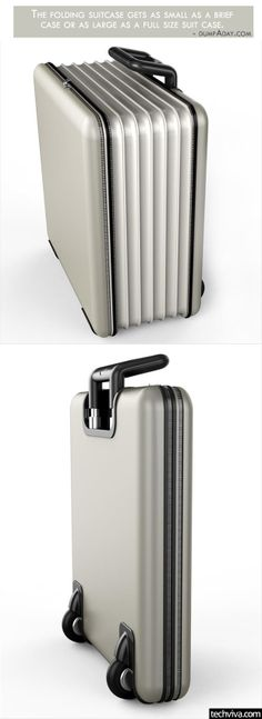Folding Suitcase - http://99covers.com/blog/simple-ideas-that-are-simply-genius-part-10/