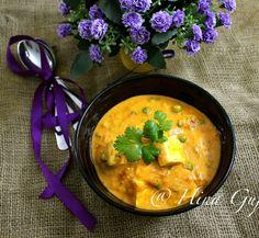 Paneer Makhani – No Onion, No Garlic (sub creams for lactose-free version or coconut milk)