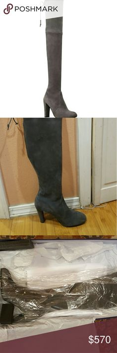 SW HIGHLAND  CHARCOAL GREY OTK BOOTS I recently purchased the boots from vestiairecollective.com . The boots are labeled size 36.5/US 6. I am selling these boots because they fit me too big so im only trying to make back what I paid for. Stuart Weitzman Shoes Over the Knee Boots