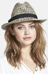 August Hat Straw Topper Fedora