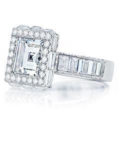 Martin Katz Asscher-cut Diamond Engagement Ring