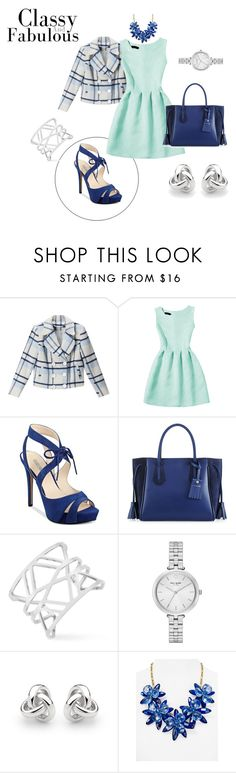 """Ice-cold"" by bianca29antonioli ❤ liked on Polyvore featuring BLUE NOTCH, WithChic, GUESS, Longchamp, Vince Camuto, Kate Spade and Georgini"