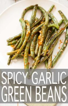 Spicy Garlic Green Beans - an incredibly easy & tasty recipe inspired by P.F. Chang's restaurant. | http://mycaliforniaroots.com | #vegan #glutenfree #recipe #appetizer #dinner