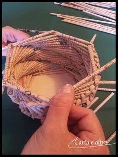 tutorial per imparare a riciclare la carta con tecniche di intreccio