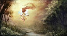 Child of Light (fanart) by aliphelps on DeviantArt Child Of Light, Cartoon Art, Beautiful Day, Game Art, Aurora, Fantasy Art, Sketches, Deviantart, Children