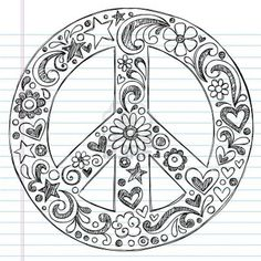 Hand-Drawn Sketchy Peace Sign Doodles Stock Vector - Illustration of notebook, love: 19249834 Paz Hippie, Hippie Art, Notebook Doodles, Notebook Paper, Doodle Designs, Designs To Draw, Peace Sign Images, Peace Signs, Peace Sign Drawing