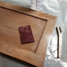 """Prepping walnut cabinet doors for refinishing. I start by spraying a solution of TSP and scrub with a maroon scotch Brite pad to remove the built up grease. The brush is used to get the grease out of the corners which is where most of the grease builds up. I rinse with water and then go over it again with alcohol to remove any glue or etc. I fill any voids or deep scratches with epoxy putty or wood filler. These will be sprayed with a sealer and then a """"conversion"""" varnish with a flat sheen… Grease Remover, Epoxy Putty, Walnut Cabinets, How To Remove, How To Apply, Cabinet Doors, Scotch, Closer, Prepping"""