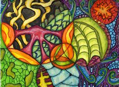 Mixed Media Zentangle/Doodles in Circles