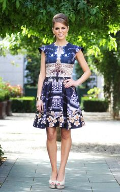 Amy Huberman in Mary Katrantzou Celeb Style, Style Me, Party Dresses, Summer Dresses, Mary Katrantzou, Style Watch, Girl Crushes, Workwear, Formal Wear