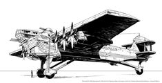 "Dieselpunk:  ""#Dieselpunk Bomber,"" by Lipatov, at deviantART."