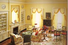 """""""Perfect scale and proportion pleases the eye and teases the brain (can this be real?) This is a miniature living room! The master dollhouse builders Mulvany & Rogers have been favorites of mine for a long time. Love their work.""""  The Ferd Sobol Editions"""