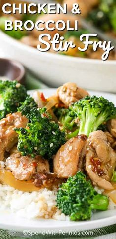 Chicken and Broccoli Stir Fry is an excellent go-to lunch or dinner option. Juicy chicken pieces and tender crisp broccoli are mixed with a homemade stir fry sauce to create a quick meal that the whole family will love! #spendwithpennies #stirfry #easyrecipe #quickrecipe #healthyrecipe #simpledishes #easycooking #easymealprep #veggiedishes #chickenrecipe