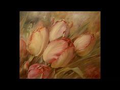 """""""Тюльпаны"""". Олег Буйко. Живопись маслом. Process of creating oil painting."""