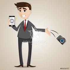 https://cz.dollarphotoclub.com/stock-photo/cartoon businessman drop camera and showing camera in smartphone/66039157 Dollar Photo Club miliony kvalitních obrázků za 1$ za každý