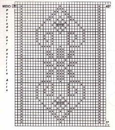 Caminho de mesa em croche filé, trabalhado em barbante cru ou branco, você pode adaptar uma linha a agulha 1,75mm.       Gráficos          ...
