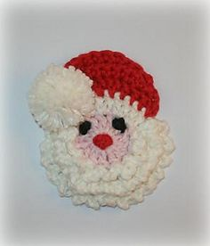 Santa Badge/Decoration Crochet Pattern by Shalene McKay