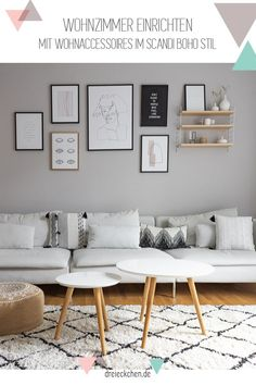 Dwelling concepts with new wall paint: arrange wardrobe and lounge suggestions // Promoting> triangles Wall Painting Living Room, Living Room Decor Cozy, Living Room Grey, Home And Living, Söderhamn Sofa, Ikea Soderhamn, Interior Walls, Interior Design, Room Colors