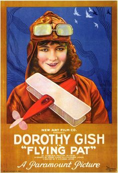 I chose this because it reminds me of Amelia earnheart pictures Vintage Movie Poster - 1920