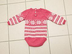 Ravelry: Snowflake Baby Onsie pattern by Unnur Eva Arnarsdóttir