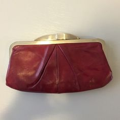 SALEHOBO Red Clutch or Wallet Very versatile! Has mini straps to wear on shoulder or they can be hidden in the bag and be used as a clutch! Also could be an oversized wallet! Great color & options! HOBO Bags Clutches & Wristlets