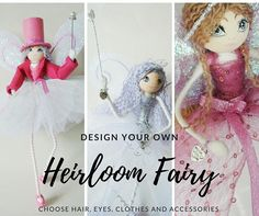 Fairy art doll handmade to order in your own design - Custom Order fairy or angel - your fairy, your way