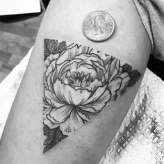 black grey botanical tattoo - Google Search …
