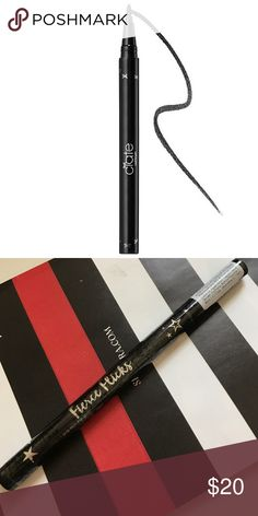 ✨Ciate London fierce flicks eyeliner✨ Brand new in the wrapping! Put eyes in the spotlight with this easy-to-apply, highly pigmented, inky black liquid liner, designed for any skill level. The innovative, fray-proof chisel tip allows for precise application. Just use the thin edges of the tip to create eye-enhancing, subtle lines or the larger flat surface for attention-grabbing, bolder flicks and more dramatic eye looks. smudge-proof, high gloss finish. Sephora Makeup Eyeliner