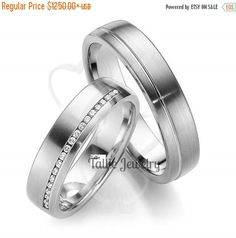 14K WHITE GOLD MATCHING HIS & HERS WEDDING BANDS Width : 6mm/6mm Finish : Satin Finish Fit : Comfort Fit Size: 4-12  -A WIDE SELECTION OF MENS & WOMENS WEDDING BANDS AT LOWEST PRICES.  -DIRECT MANUFACTURER FROM NEW YORK -GREATEST QUALITY  -EXCELLENT CUSTOMER SERVICE  -SATISFACTION GUARANTEED ********YOUR SATISFACTION IS OUR #1 PRIORITY.*********  -All His and Hers Sets are available individually.  Please let us know your exact size after ordering. All rings are available in full, half or…