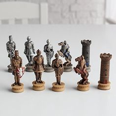Medieval Times Armored Knights Painted Resin Chess Pieces * Read more reviews of the product by visiting the link on the image.