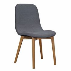 FRIEDA oak dining chair in charcoal