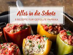 Auf die Füllung kommt es an: 9 Rezeptideen für gefüllte Paprika Mashed Potatoes, Low Carb, Food And Drink, Beef, Stuffed Peppers, Vegetables, Ethnic Recipes, Desserts, Cooking Ideas