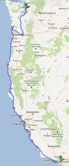 Pacific Coast Highway Road Trip Seattle to San Diego Hope to do