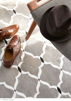 Chesterfield Pattern in Charcoal from the Sterling Row collection by Walker Zanger. Byrd Tile Distributors is proud to be an exclusive distributor of Walker Zanger tiles in Raleigh, NC for more than 20 years. Floor Patterns, Tile Patterns, Big Design, House Design, Walker Zanger, Home Living, Porcelain Tile, Design Trends, White Marble