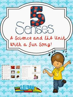 This is our new science/ELA unit on Five Senses. Your kiddos will love to sing and dance to our rocking song, color their own black and white books, sort photos , do science experiments, complete printables and make puppets .$ Read more