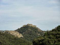 Le château de Termes depuis le nord-ouest (D 40). Juillet 2012.