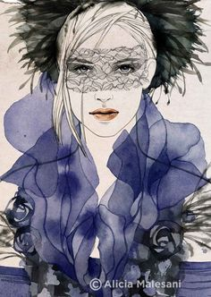 CHANEL HAT Fashion Illustration 8 x 115 by aliciamalesaniart, $40.00