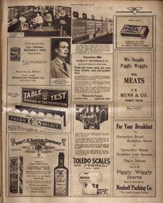 Full page promoting Piggly Wiggly grocery store. Nashville Tennessean, 1928 September :: Picturing Nashville in Rotogravure,