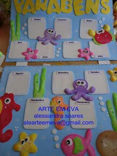 Mar Birthday Charts, New Classroom, Felt Patterns, Pre School, Preschool Crafts, Under The Sea, Alice In Wonderland, Ideas Para, Diy And Crafts