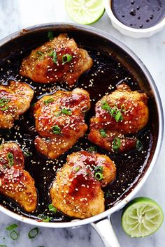 Tender and juicy chicken breasts that get coated in a sticky sweet asian sauce. This meal is ready in just thirty minutes and the flavor is awesome! Isn't life just so dang busy? And now that it is