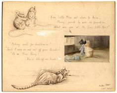 Beatrix Potter -Two little mice sat down to spin...