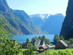 Towering fjords surround the tiny village of #Underdal #Norway, population 63.