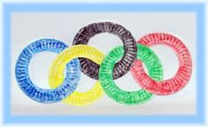Preschool Crafts for Kids*: Olympic Rings Paper Plate Craft